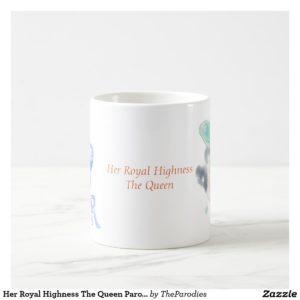 E II R Queen Elizabeth Parody Coffee Mug Center Text View