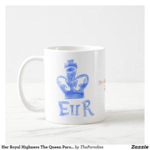 E II R Queen Elizabeth Parody Coffee Mug Left View