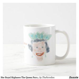 Queen Elizabeth II Parody Coffee Mug