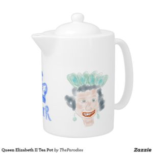 Queen Elizabeth II Parody Teapot right view