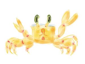 Crab watercolor artwork