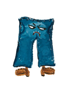 Grumpy Pants Original Artwork by Paul Myrick