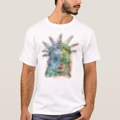 Statue of Liberty Colorful Artwork T-Shirt
