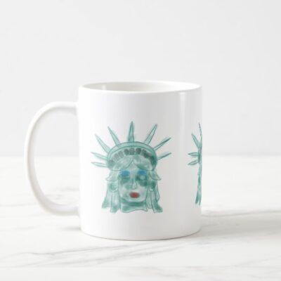 Statue of Liberty Verdigris Artwork Coffee Mug