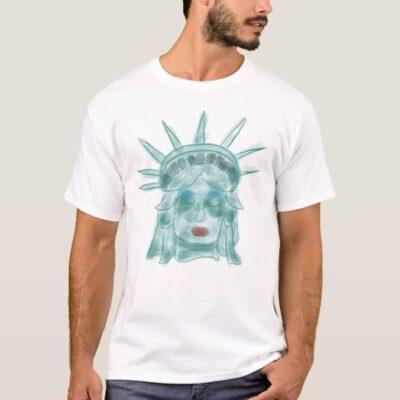 Statue of Liberty Verdigris Artwork T-Shirt