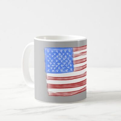Old Glory American Flag Artwork Coffee Mug