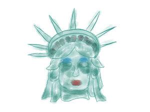 Statue of Liberty Artwork Verdi Gris