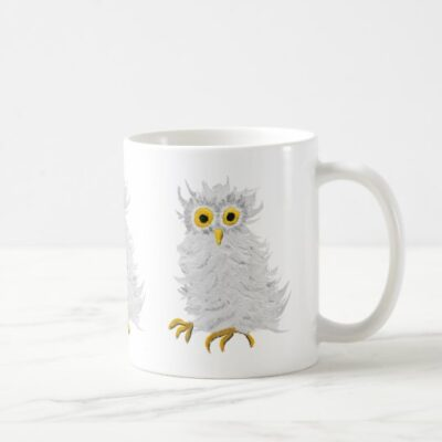 White Barn Owl Coffee Mug